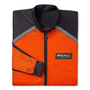 BOHN BODY ARMOR - RIDING SHIRT - AIRTEX-FOLDED-ORANGE