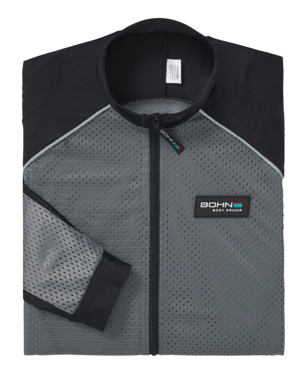Bohn Body Armor - Armored Riding Shirt - Folded Grey with Reflective Piping