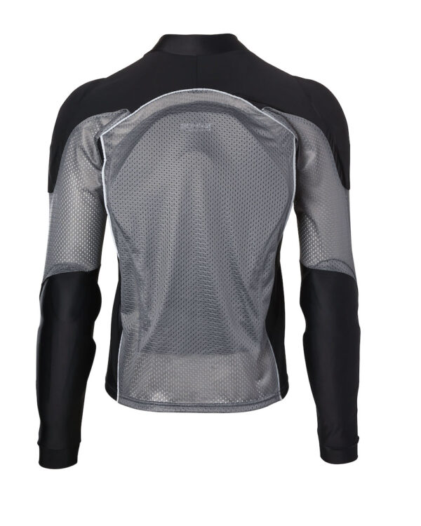 Bohn Body Armor - Grey Reflective Armored Motorcycle Shirt - Back View
