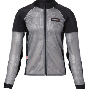 Bohn Body Armor - Armored Motorcycle Shirt - Grey with Reflective Piping