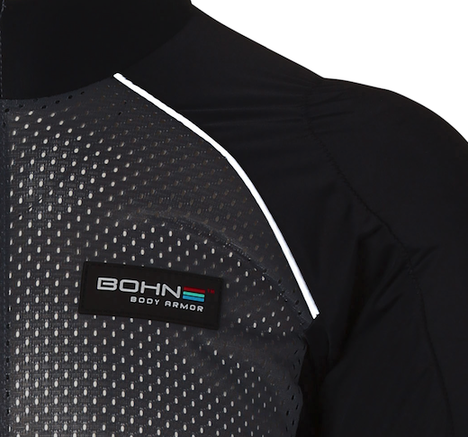 Bohn Body Armor - Reflective Piping Grey Armored Shirt