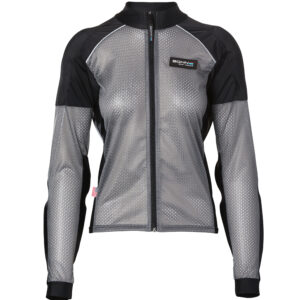 Womens Armored Riding Shirt - Reflective Motorcycle Shirt - Grey