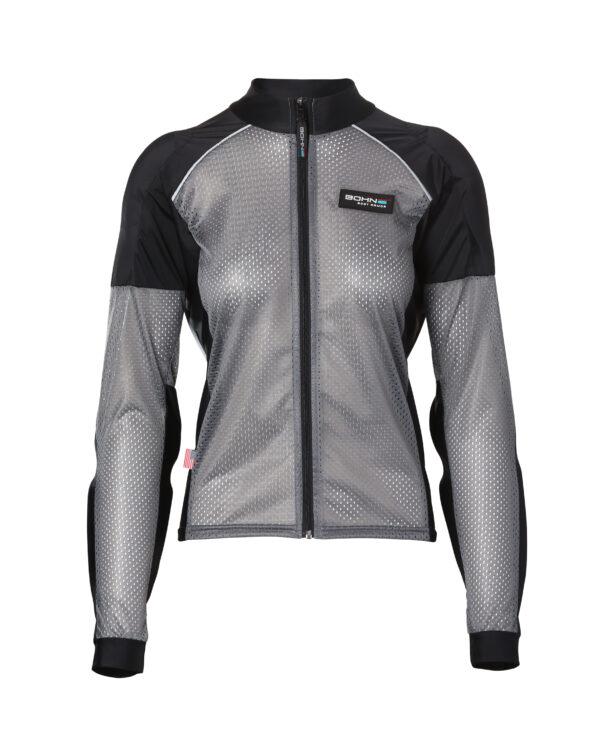 Womens Armored Riding Shirt - Reflective Motorcycle Shirt - Grey
